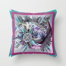Manchester whirl Throw Pillow