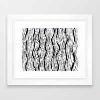 BLACK STRIPES Framed Art Print