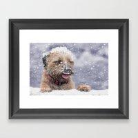 Border Terrier Winter Wi… Framed Art Print