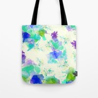 Printed Silk Ocean Spray Tote Bag