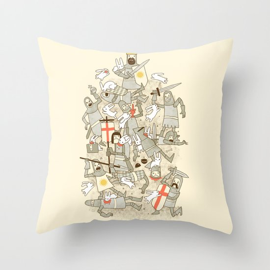 Bad Tempered Rodents Throw Pillow
