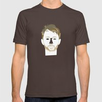 THOMAS EDWARD YORKE Mens Fitted Tee Brown SMALL