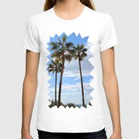 palm trees T-shirts featuring Palm Trees by Rebecca Bear
