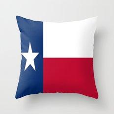 Flag of Texas Throw Pillow