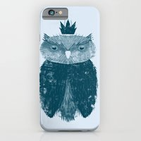 iPhone & iPod Case featuring Owl King by ErDavid