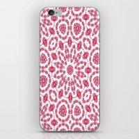 Ruby Mandala Tile 2 iPhone & iPod Skin