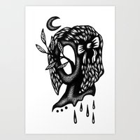 Beware of Psychic Vampires Art Print