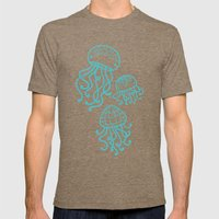 Jellyfish Mens Fitted Tee Tri-Coffee SMALL