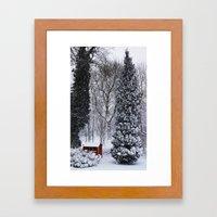 Winter in my garden Framed Art Print