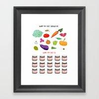 Nutritious Diet Framed Art Print