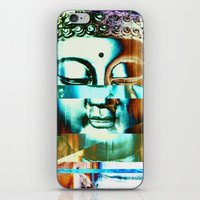 Glitch Buddha #3 iPhone & iPod Skin