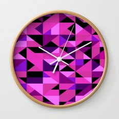 Green Machine / Pattern #8 Wall Clock