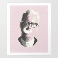 Mad Men's Roger Sterling Art Print