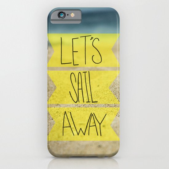 Let's Sail Away: Sandy Beach iPhone & iPod Case