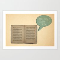 DON'T JUDGE A COVER BY… Art Print