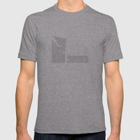 Erosion & Typography 4 Mens Fitted Tee Athletic Grey SMALL