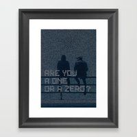mr.robot_eps1.1_ones-and-zer0es.mpeg Framed Art Print