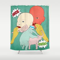Ouch Shower Curtain