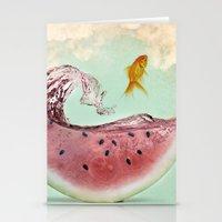 Watermelon Goldfish 02 Stationery Cards