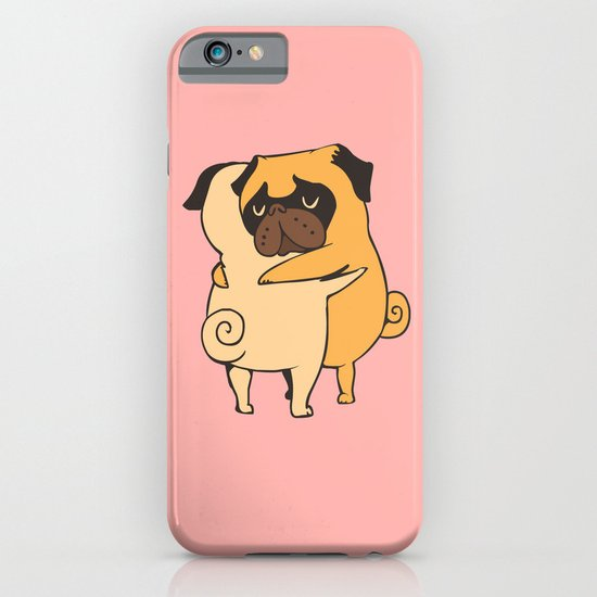 Pug Hugs iPhone & iPod Case