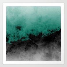 Zero Visibility Emerald Art Print