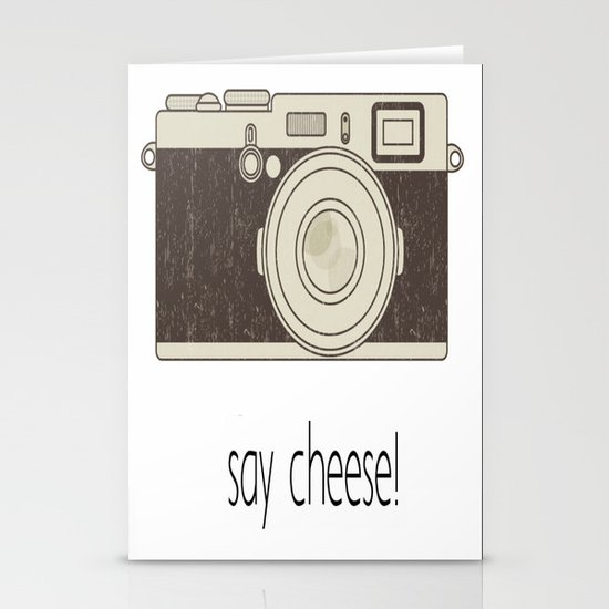 Say Cheese Stationery Card