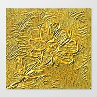 embossed floral Canvas Print
