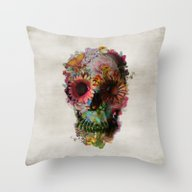 Throw Pillow featuring SKULL 2 by Ali GULEC