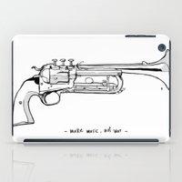Make Music, Not War. iPad Case