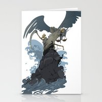 GRIM SURF Stationery Cards