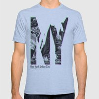 New York Urban City Mens Fitted Tee Athletic Blue SMALL