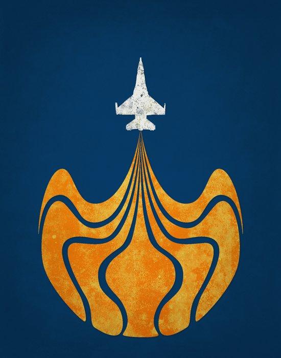 Retro Rocket Art Print