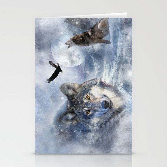 Wolves Stationery Card