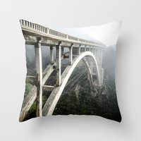 Bixby Canyon Bridge Throw Pillow