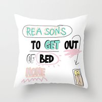 Reasons To Get Out Of BE… Throw Pillow