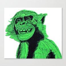 Green Bonobo Canvas Print