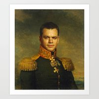 Matt Damon - replaceface Art Print