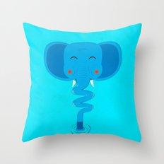 Elefun Throw Pillow