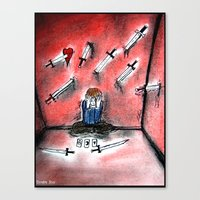 Nine Of Swords Canvas Print