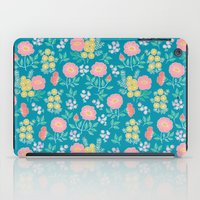 Hexagon floral 2 iPad Case