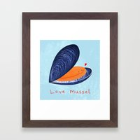 Love Mussel Framed Art Print