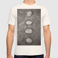 Lined up Mens Fitted Tee Natural SMALL