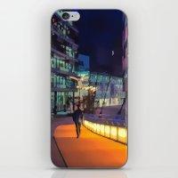 Night Time In Media City iPhone & iPod Skin
