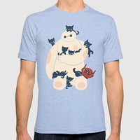 Kittens! Mens Fitted Tee Tri-Blue SMALL