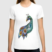 peacock T-shirts featuring Peacock by SilviaGancheva