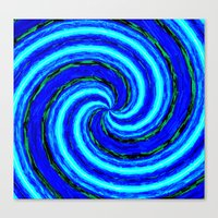 Abstract Blue Modern. Canvas Print