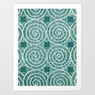 LACY CURLS With CUBES | … Art Print