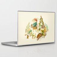 Laptop & iPad Skin featuring Critters: Summer Gardeni… by Teagan White
