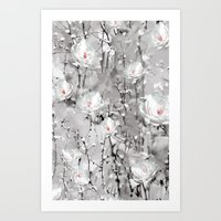 White Flowers - For Ipho… Art Print