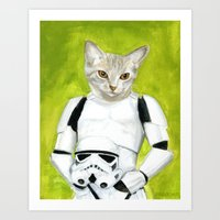 Poopy The Kitty Storm Tr… Art Print